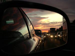 fille traffic jam