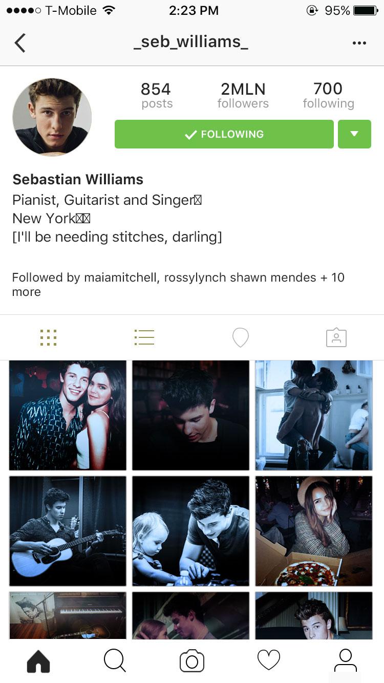 Sebastian Williams [IG Fake Profile] by DaisyChan55