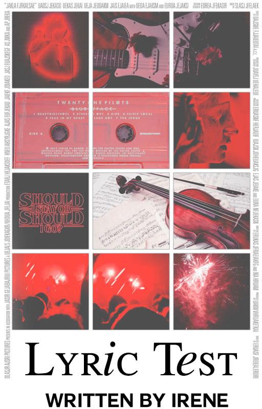 Lyric Test||Wattpad Cover|| by DaisyChan55