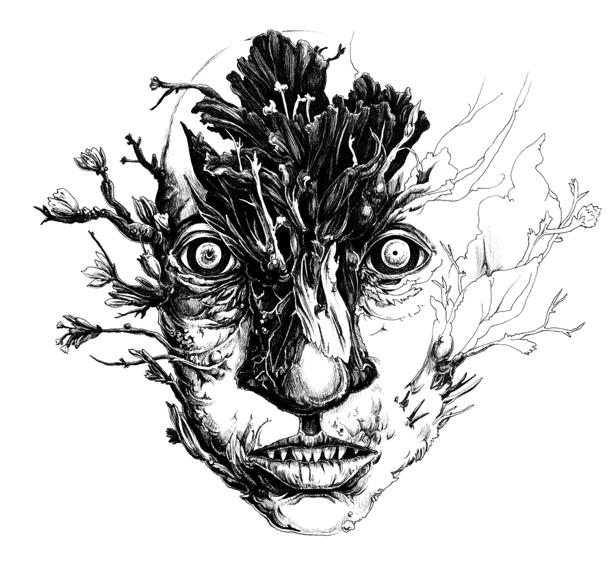 Herbarium face by Bakhareva