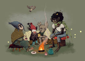 Bonfire by Bakhareva