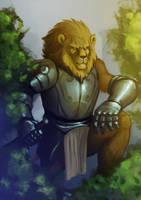 Lion knight by lejellycat