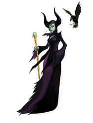 Maleficent by lejellycat