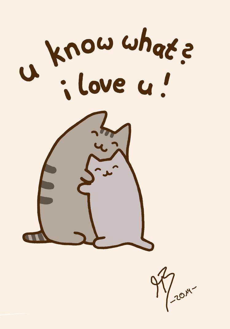 Cat Hugs Owner Gif