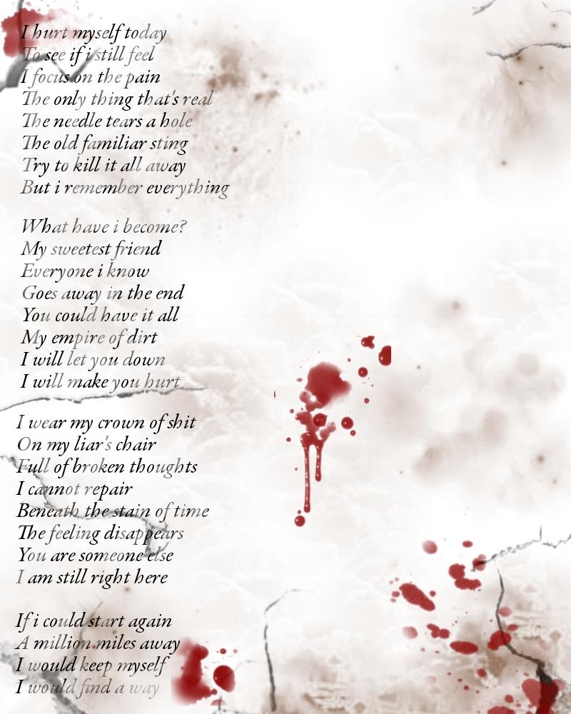 I Hurt Myself Today... by DestructiveDelirium on DeviantArt