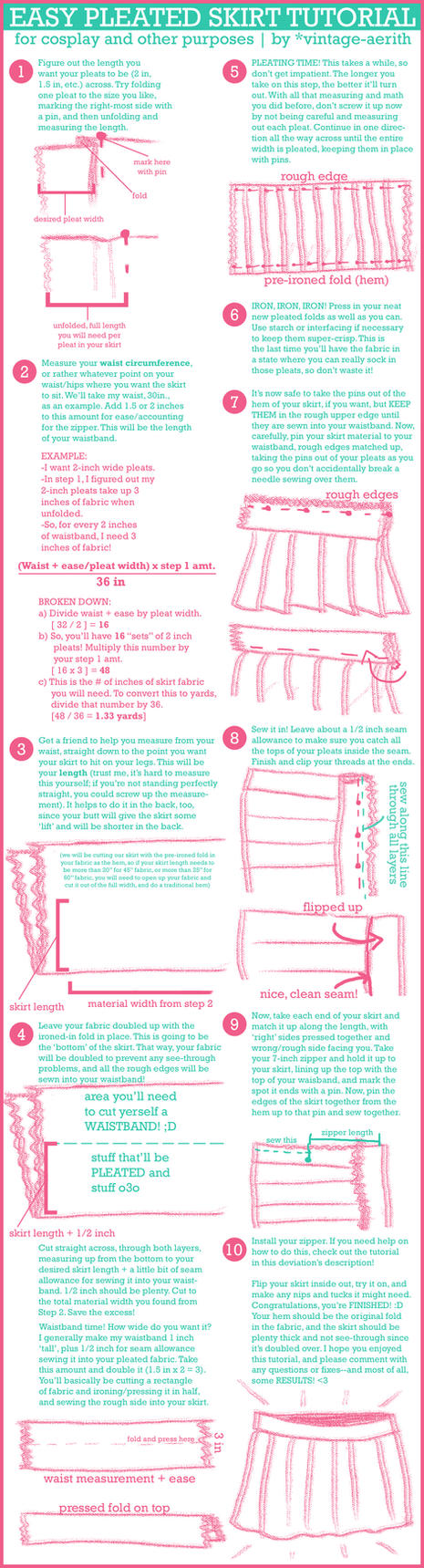 How To Make Pleated Skirt