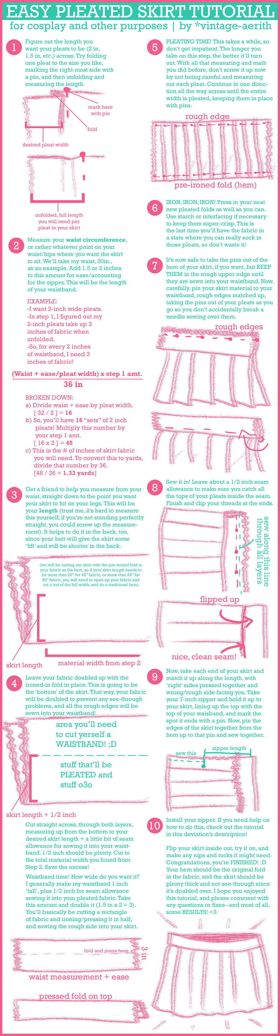 Easy Pleated Skirt Tutorial by cafe-lalonde on DeviantArt