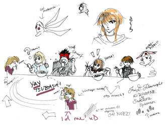 Tsubasa Sketchdump by cafe-lalonde
