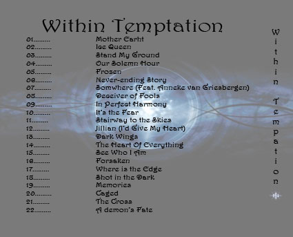 Within Temptation back cover by Thim-San