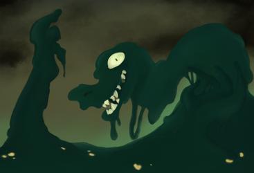 Goopy Lizard Man by fluffysnail