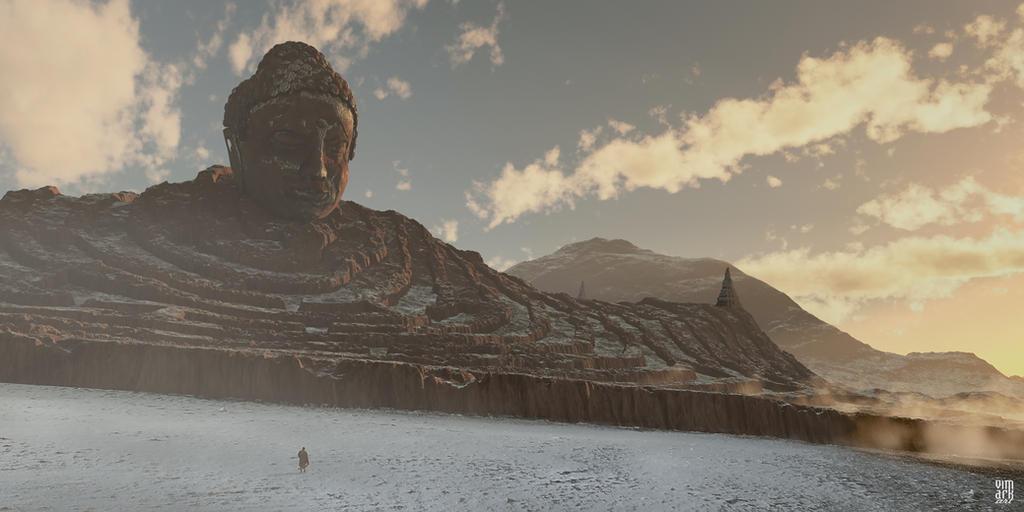Sleeping Buddha maze by vimark