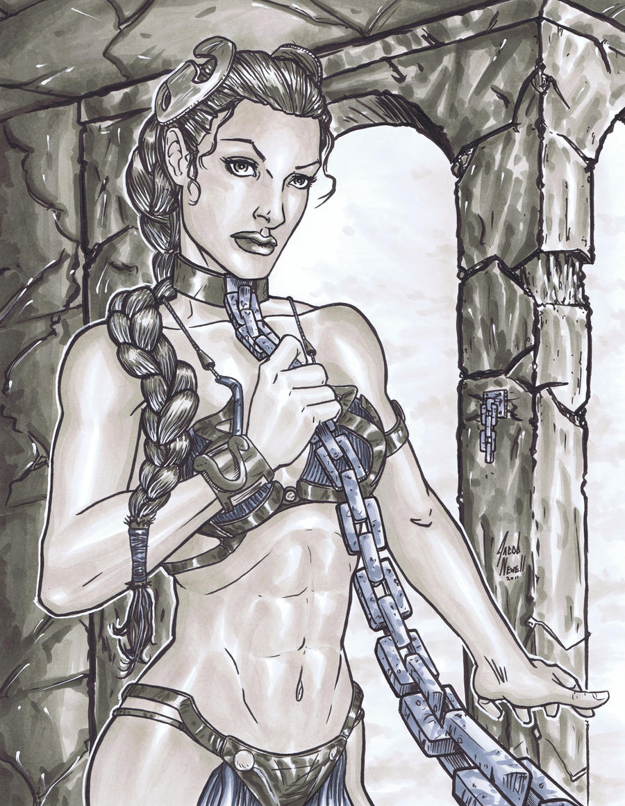 Slave Leia by BanebrookStudios