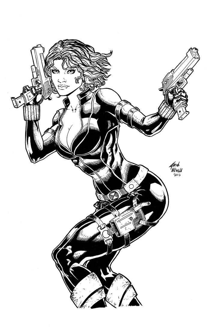 Download Avengers Coloring Pages Here Blackwidow: Black Widow Avengers Black And White By BanebrookStudios
