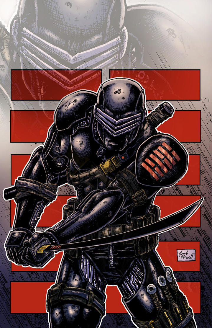 Snake Eyes Colored by BanebrookStudios