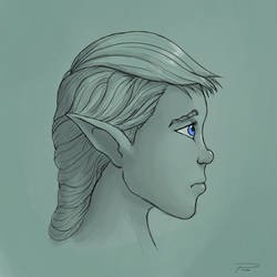 Face sketch #27 by laspinter