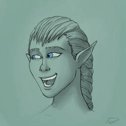 Face Sketch #28 by laspinter