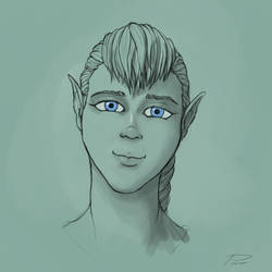 Face sketch #29 by laspinter