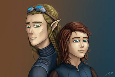 Lyr and Ghil by laspinter