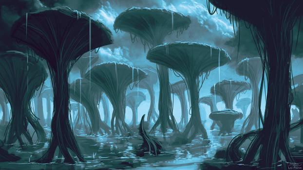 Sapphire Pillars - Commission