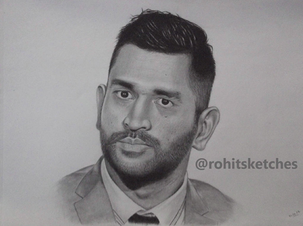 Msdhoni Msd Mahendra Singh Dhoni By Rohitsketches On DeviantArt