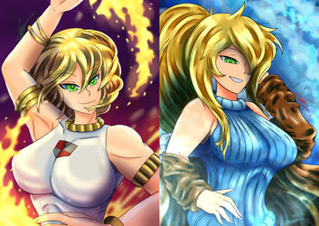 Fire and Ice of Emerald Sisters