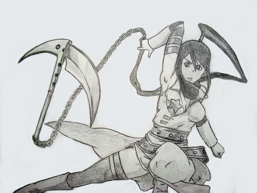 Tsubaki drawing by kakashiz