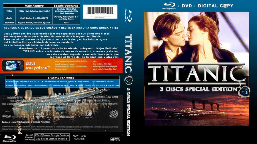 titanic fan blu ray cover by lkdrsvd on deviantart. Black Bedroom Furniture Sets. Home Design Ideas