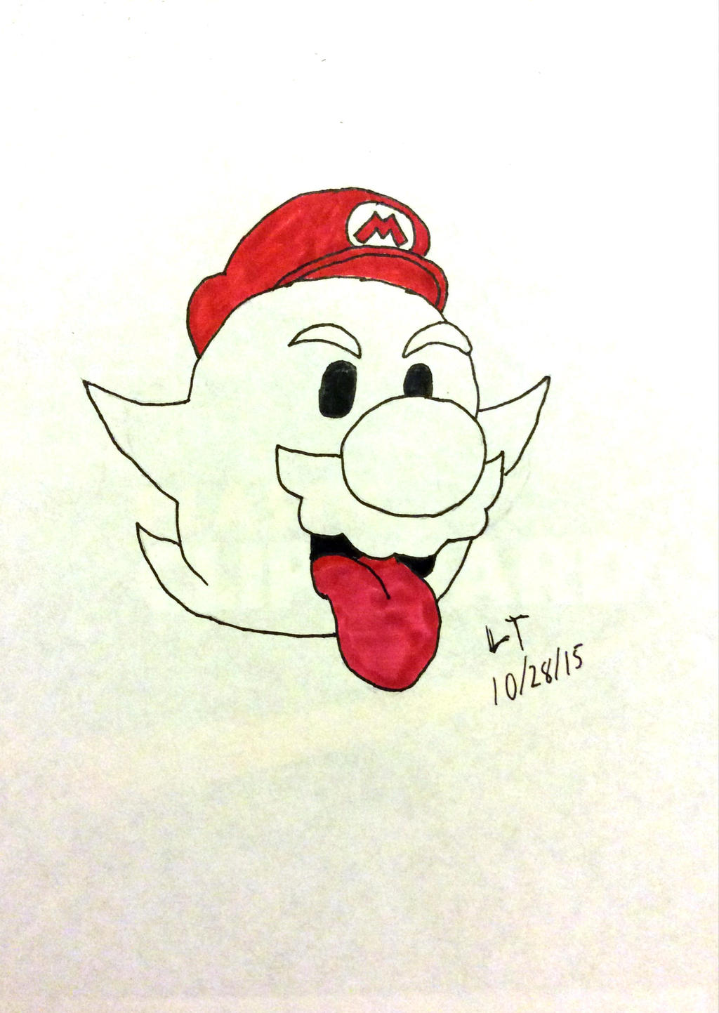 Boo Mario by L1701E