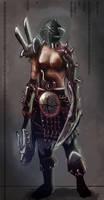 Female marauder Warhammer fan art