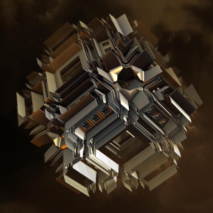 Titanium Origamium Continuum by MANDELWERK