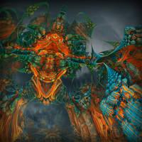 Guardian of forbidden colors by MANDELWERK