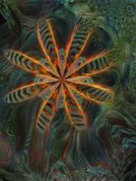 A flower's decay by MANDELWERK