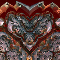 A heart of steel is always... by MANDELWERK