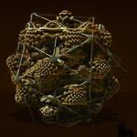 Arachnophobia by icosahedral spider leg caging