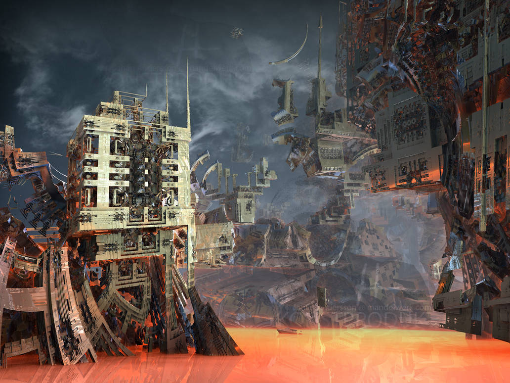 Aztech City - after the Rain by MANDELWERK