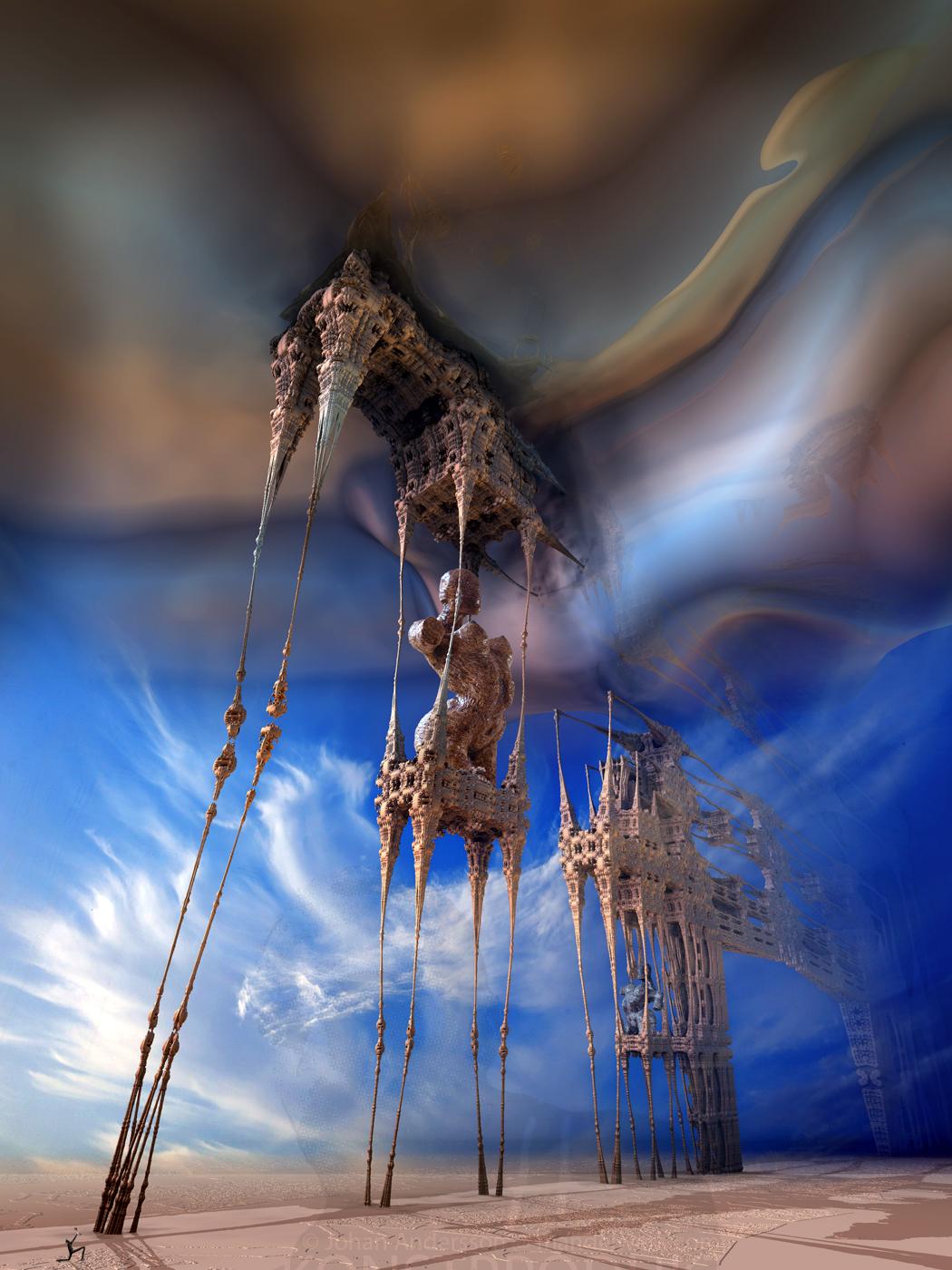 Temptation of the Fractalic Mystical Daliphants by MANDELWERK