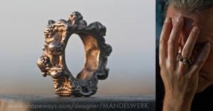 MANDELRING - 3D printed in STAINLESS STEEL