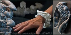 Slice of Spine - 3D printed 3D Fractal Bracelet