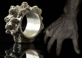 Mandelbulb Silver Ring - Extremely detailed by MANDELWERK