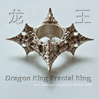 Dragon King Fractal ring - 3D printed in Silver