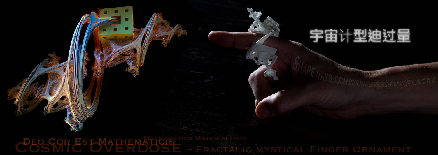 Deo cor est Mathematicis - 3D Fractal Jewelry