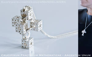 Crucifixum Fractalum Mathematicae - Argentum Unum by MANDELWERK