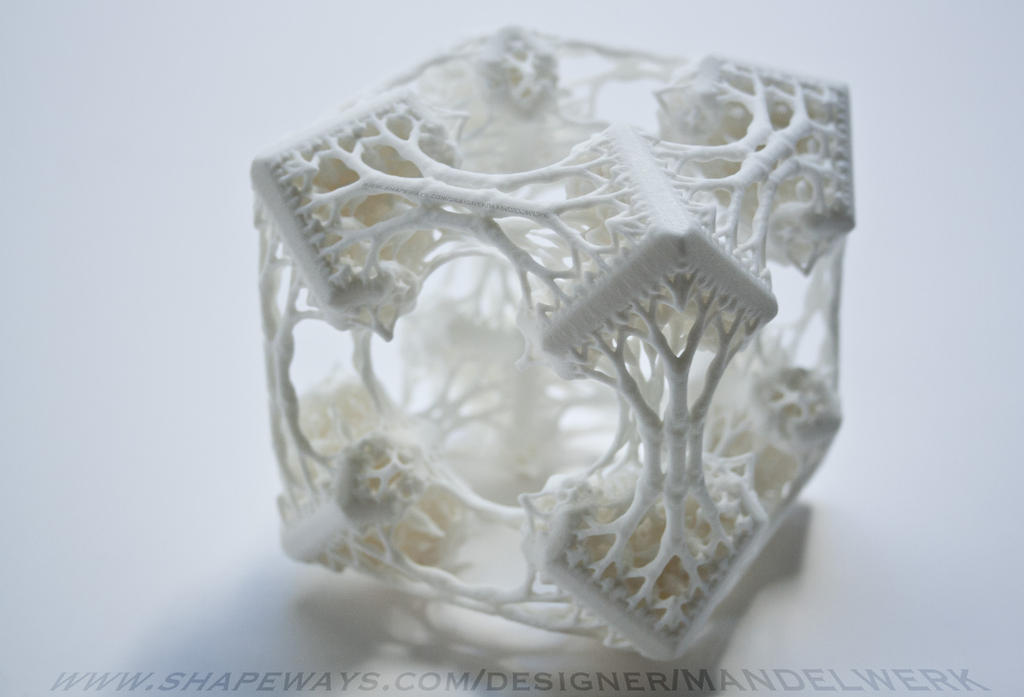 Cubic Woods - the 3D printed Fractal Sculpture by MANDELWERK
