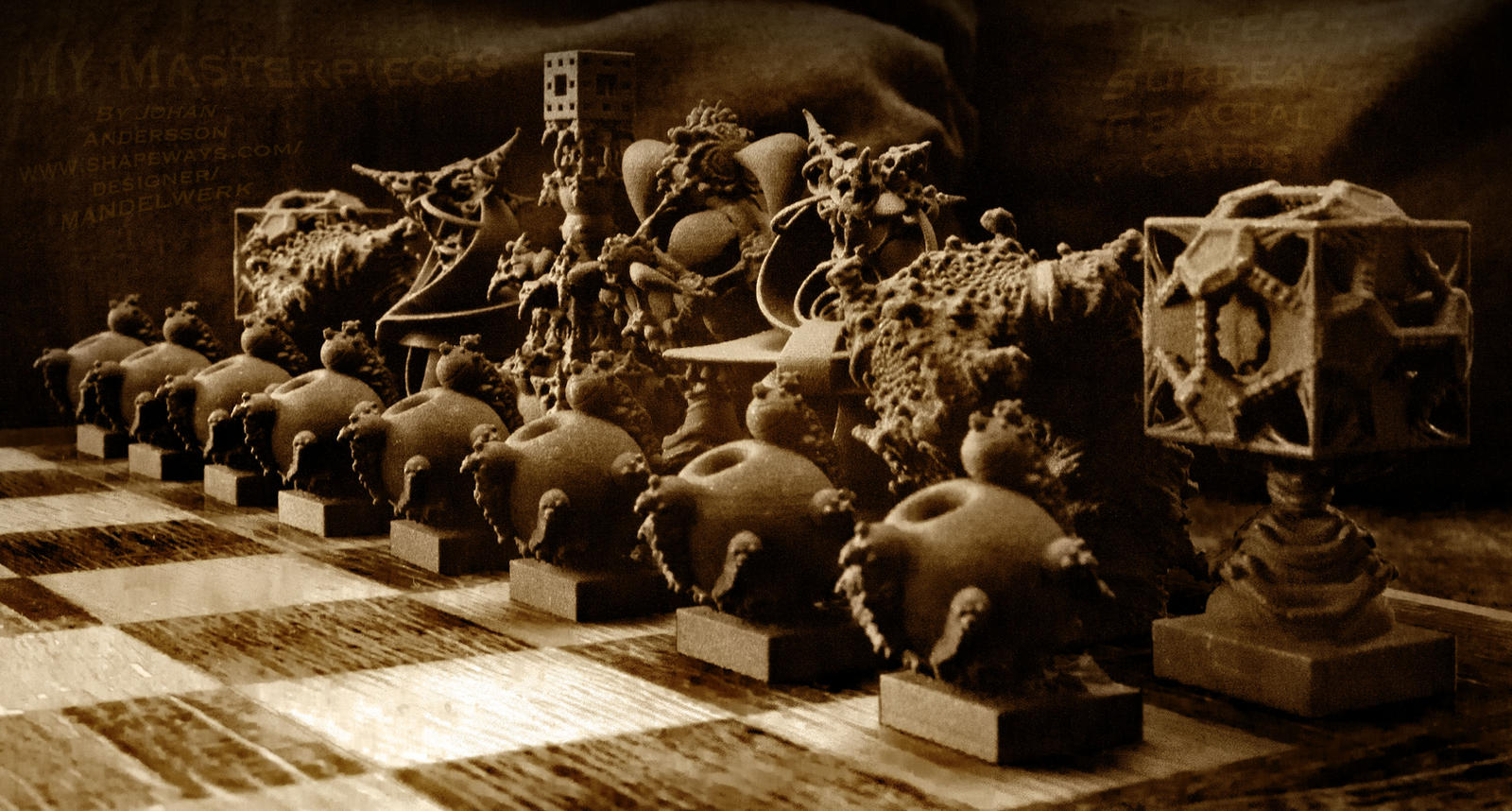 Surreal Chess Set My Masterpieces The Release By