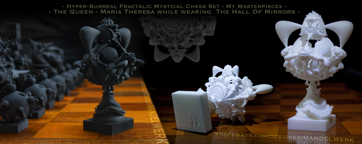 Surreal Chess Set - My Masterpieces - The Queen by MANDELWERK