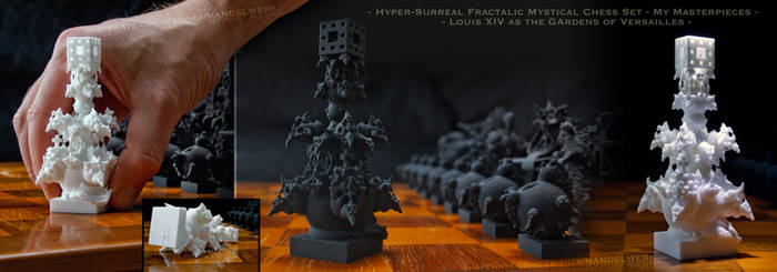 Surreal Fractal Chess Set -Masterpieces- The King