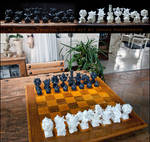 Surreal Fractal 3D printed Chess - The SET - IRL