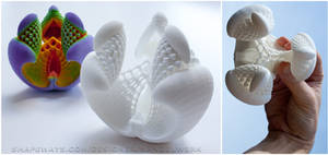 3D printed Fractal - Libidinis Hexagonis Albidus