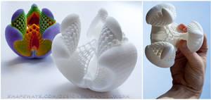 3D printed Fractal - Libidinis Hexagonis Albidus by MANDELWERK