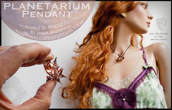 Planetarium Pendant - Fractal Jewelry